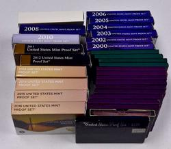 Big Estate Lot of Proof Sets from 30 Sets w Key 2012
