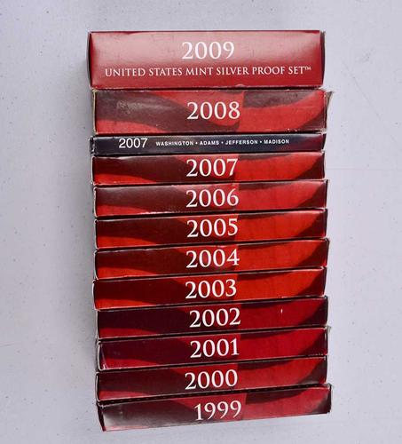 US Silver Proof Set Run 1999-2009 all State and Territory