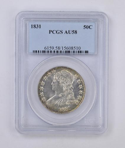 AU58 1831 Capped Bust Half Dollar - PCGS Graded