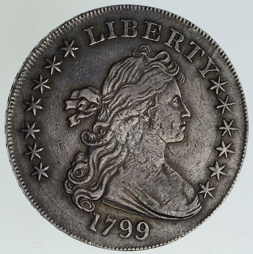 1799 Draped Bust Silver Dollar - Circulated