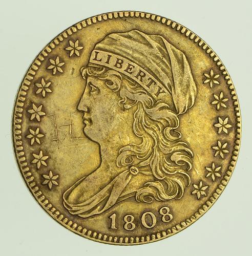 1808 $5.00 Draped Bust Gold Half Eagle - Circulated