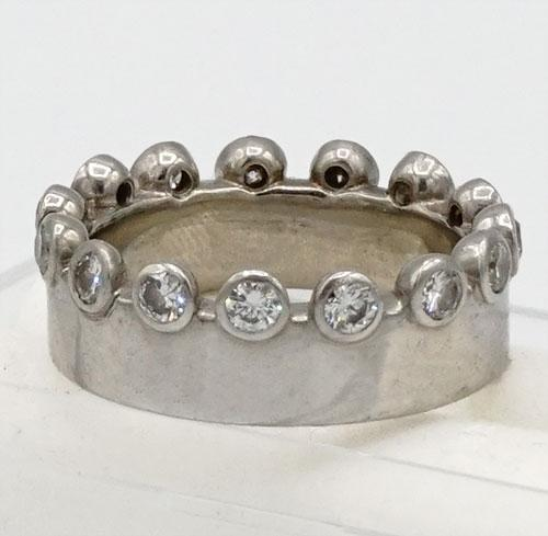 18kt Gold Diamond Eternity Crown Ring