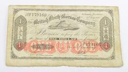 1927 British North Borneo Company $1 Dollar Note