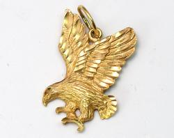 14KT Yellow Gold Eagle Pendant