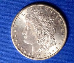 BU 1882-S Morgan Silver Dollar