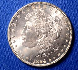 BU 1884 Morgan Dollar
