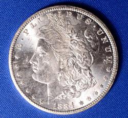 BU 1884-CC Morgan Silver Dollar