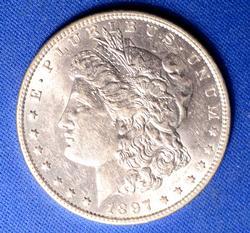 Choice AU 1897-O Morgan Silver Dollar