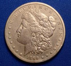 Awesome 1889-CC Morgan Dollar, Circ
