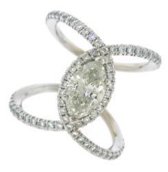 Elegant Gabriel and Co 1.50ct Diamond Ring