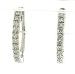 Petite Diamond Hoop Earrings in 14K