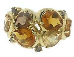Lovely Citrine and Topaz Gemstone Ring