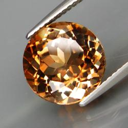 Magnificent 6.64ct Imperial Topaz solitaire