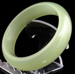 Green Jade Crafted Bangle Bracelet