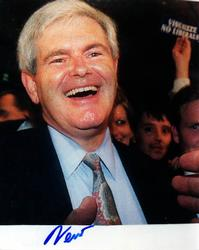 Newt Gingrich Signed Autographed 8×10 Speaker Photo