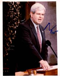 Newt Gingrich Signed Autographed 8×10 Speaking Photo