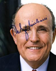 Rudy Giuliani Autographed Signed 11×14 Photo