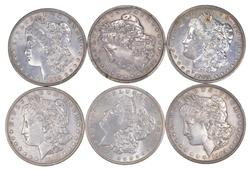 Lot (6) 1903 Morgan Silver Dollars