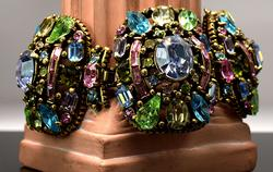 Vintage Brilliant Large Colorful Gemstone Bracelet