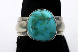Vintage Sterling Silver Turquoise Ring