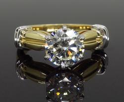 Certified 1.231CT Round Brilliant Cut Diamond