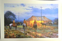Martin Grelle , Cowboy Revival Hand Signed