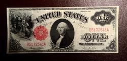 $1 FR#36 1917 LEGAL TENDER NOTE Choice Circ