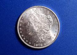 1878 7 TF MORGAN DOLLAR CH-BU