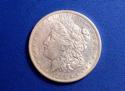 1885-S MORGAN DOLLAR NEAR UNC