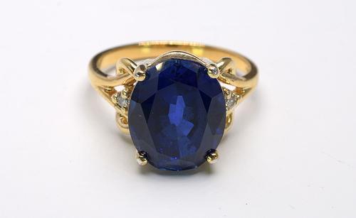 Beautiful Blue Gemstone Vermeil Ring