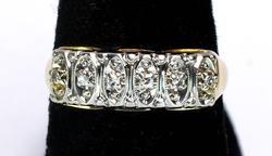 Vintage Style Diamond Ring, 14KT Yellow Gold