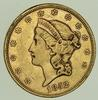 1852 $20.00 Liberty Head Gold Double Eagle - Circulated