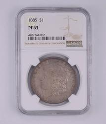 PF63 1885 Morgan Silver Dollar - Graded by NGC