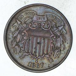1867 Two-Cent Piece - DDO - Sharp