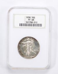 PF68 1938 Walking Liberty Half Dollar - Graded by NGC