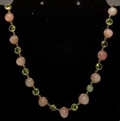 Amazing Peridot & Moonstone Necklace