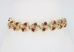 Unique Ruby and Diamond Bracelet, 3.25CTW