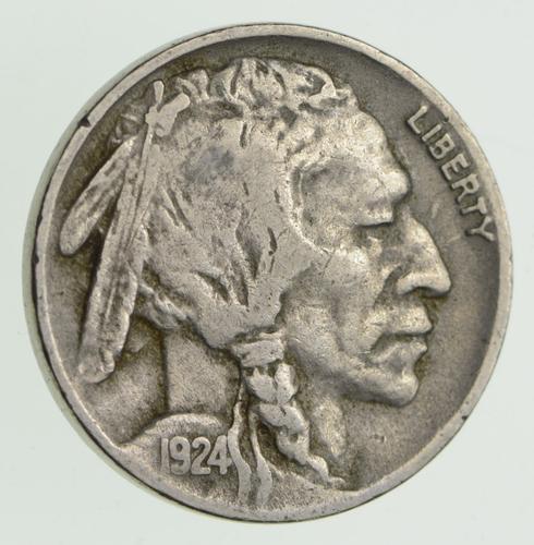 1924-D Indian Head Buffalo Nickel