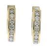 Gorgeous Channel Set Diamond Earrings
