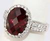 Sparkling Rhodalite and Diamond Ring