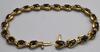 10kt Yellow Gold Sapphire Bracelet