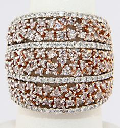 Sparkling Diamond Wide Band- 4cts!