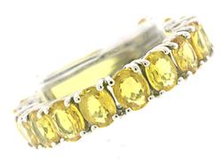 Fantastic Oval Cut Natural Yellow Sapphire Band