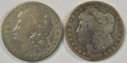 2 Scarce 'CC' Morgan Silver Dollars from 1880 & 1882