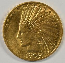 Very appealing 1909 US $10 Indian Gold Piece. Nice