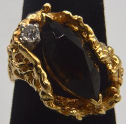 14kt Yellow Gold Smoky Topaz Ring