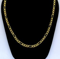 Heavy 14KT Figaro Chain, 24 inches