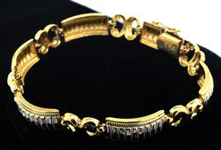 Wonderful 14KT Two Tone Bracelet