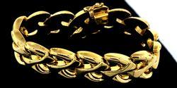 Fancy 14KT Yellow Gold Bracelet