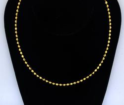 18KT Beaded Nekcalce, 18 Inches.